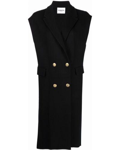 Пальто двубортное - черное Essentiel Antwerp