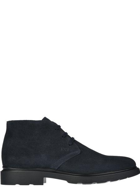 Кожаные ботинки - синие Nero Giardini