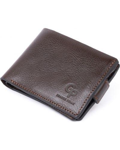 Кожаный портмоне - коричневый Grande Pelle