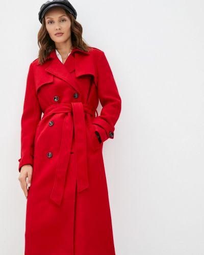 Пальто двубортное - красное Trendyangel