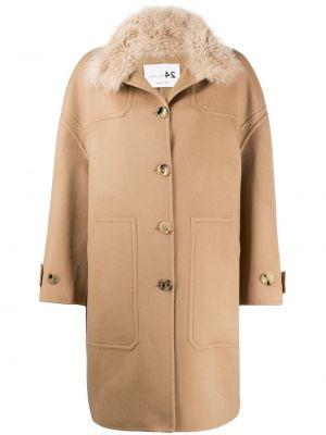 Однобортное кашемировое длинное пальто с воротником Manzoni 24
