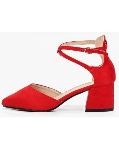 Туфли на каблуке красные замшевые Fersini