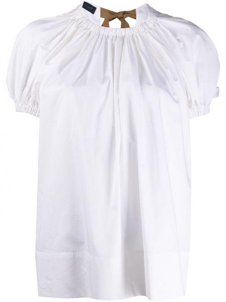 Блузка с короткими рукавами - белая Eudon Choi