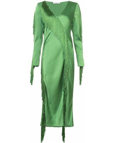 Платье мини с бахромой с V-образным вырезом Dvf Diane Von Furstenberg