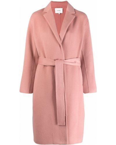 Длинное пальто розовое на кнопках Vince.