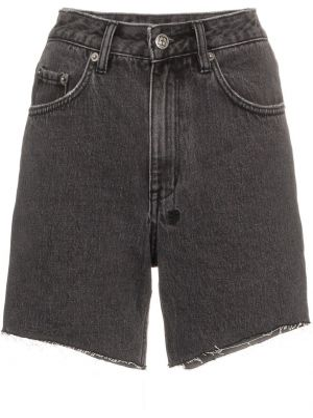 Серые джинсовые шорты с карманами со стразами Ksubi