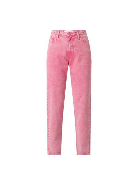 Różowe jeansy bawełniane Calvin Klein Jeans