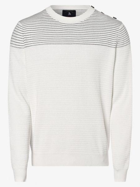 Biały sweter elegancki Andrew James Sailing