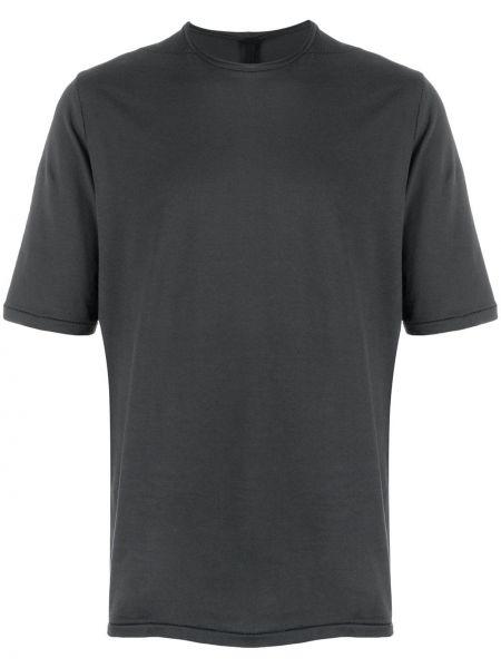 Хлопковая серая футболка свободного кроя с круглым вырезом Forme D'expression