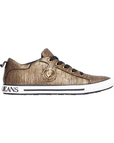 Кеды золотого цвета Armani Jeans