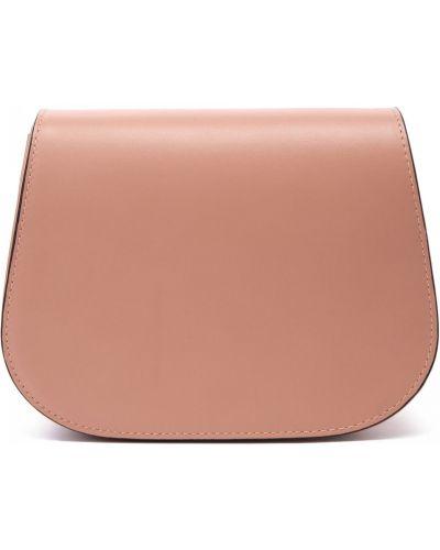 Розовая кожаная сумка Doria Maria