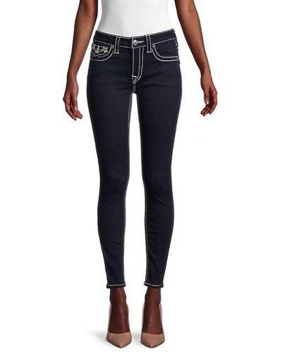 Хлопковые зауженные джинсы-скинни с карманами True Religion