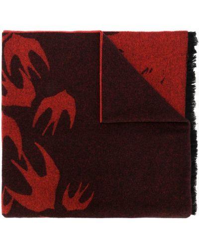 Красный шарф с бахромой Mcq Alexander Mcqueen