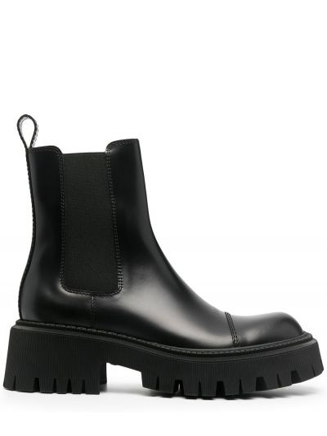 Кожаные черные ботинки эластичные Balenciaga