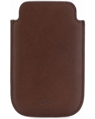 Кожаный коричневый футляр для очков Mismo