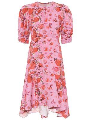 Асимметричное классическое розовое платье мини Peter Pilotto