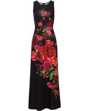 Платье макси с цветочным принтом с вырезом Bonprix