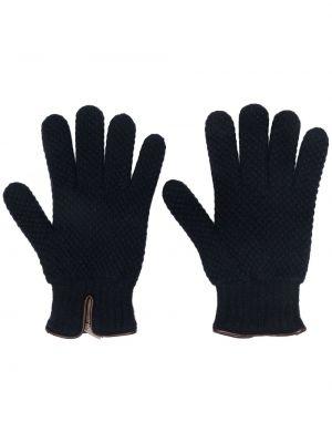 Z kaszmiru rękawiczki - niebieskie Lady Anne