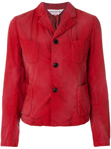 Хлопковая красная куртка с карманами Comme Des Garçons Girl