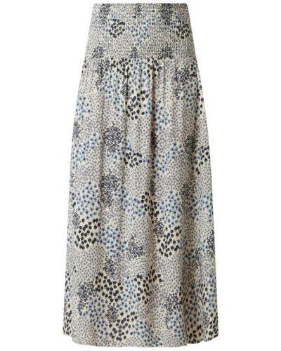 Długa spódnica z wiskozy - niebieska Saint Tropez