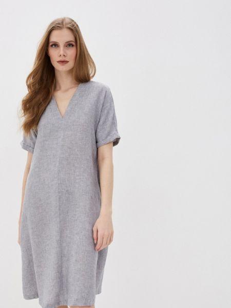 Повседневное платье серое весеннее Marks & Spencer