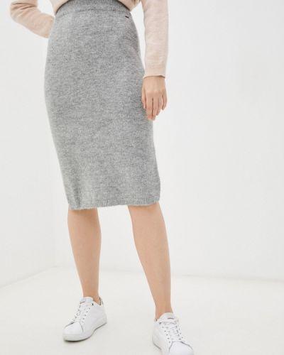 Прямая юбка - серая Mexx