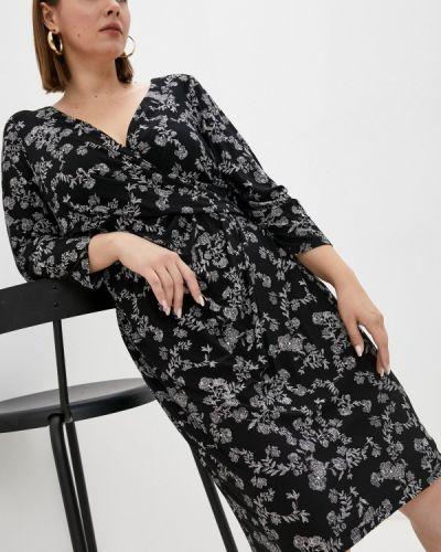 Платье с запахом - черное Lauren Ralph Lauren Woman