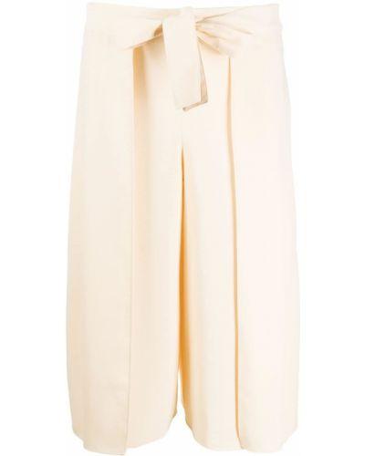 Свободные хлопковые укороченные брюки с завязками свободного кроя See By Chloé