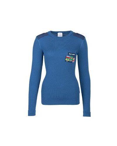 Шерстяной синий джемпер Stella Jean