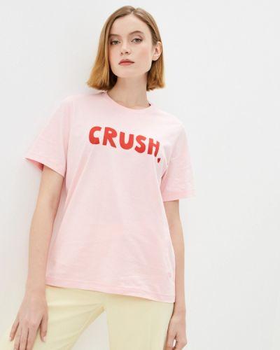 Розовая футболка с короткими рукавами Markus Lupfer