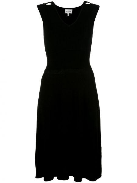 Платье с V-образным вырезом прямое Milly
