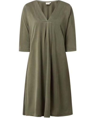 Sukienka rozkloszowana - zielona Cream