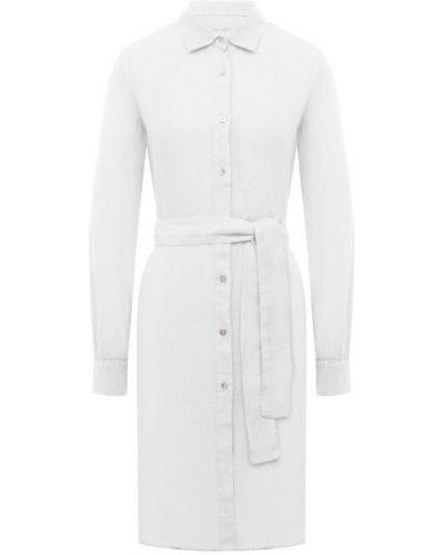 Льняное белое платье 120% Lino