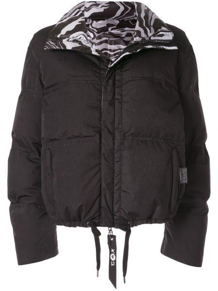 С рукавами черная куртка двусторонняя с воротником Kru