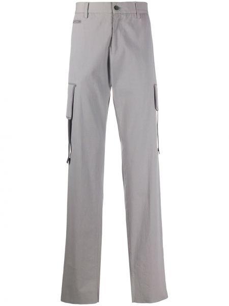 Желтые прямые брюки на пуговицах с карманами новогодние Jil Sander Pre-owned