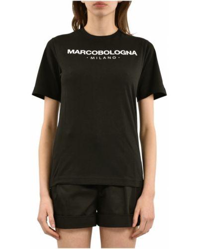 Czarny t-shirt Marco Bologna