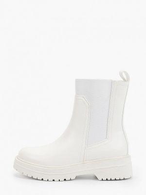 Кожаные ботинки челси - бежевые Marquiiz