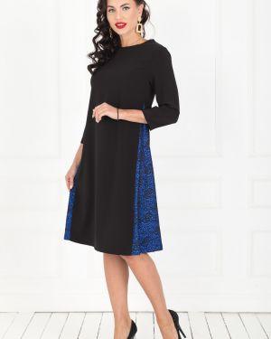 Вечернее платье миди - черное Taiga