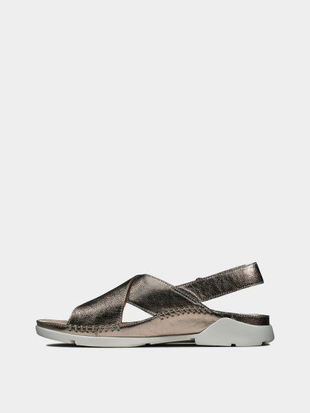 Кожаные сандалии - серые Clarks