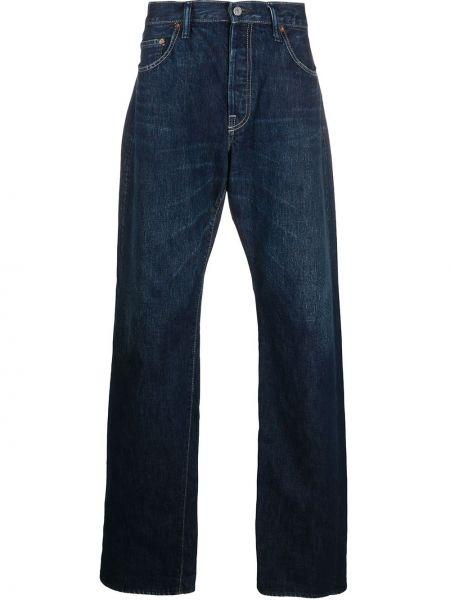 Синие классические джинсы свободного кроя на молнии Yohji Yamamoto Pre-owned