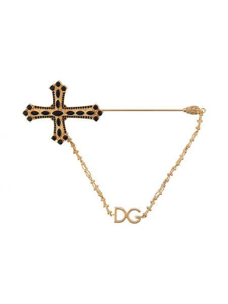 Złota broszka Dolce And Gabbana