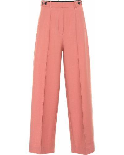 Różowy wełniany bezpłatne cięcie klasyczne spodnie bezpłatne cięcie Rokh