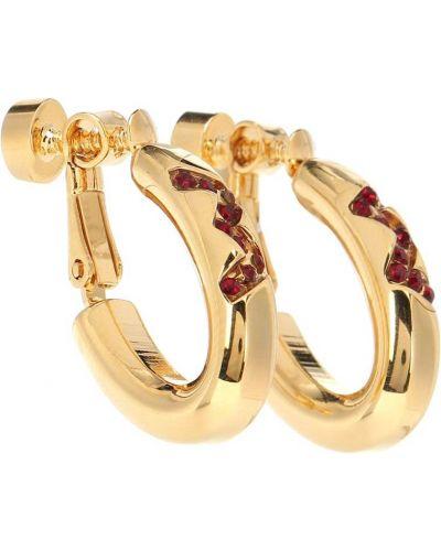 Серьги-гвоздики серьги-кольца золотые Marni