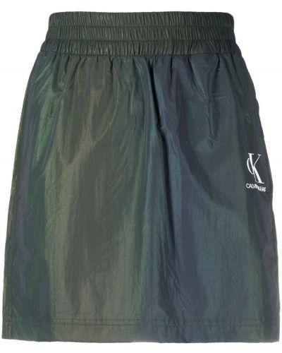 Зеленая юбка мини с карманами Calvin Klein Jeans