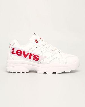 Коричневые кроссовки из искусственной кожи Levi's®