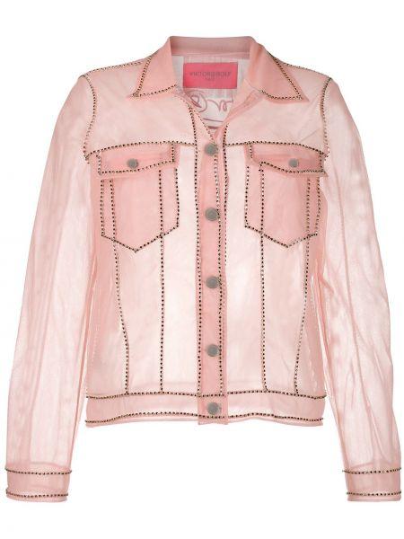 Розовая куртка прозрачная с воротником Viktor & Rolf