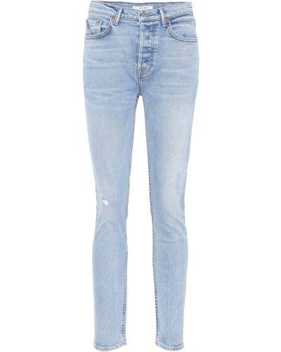 Bawełna zawężony bawełna niebieski obcisłe dżinsy Grlfrnd