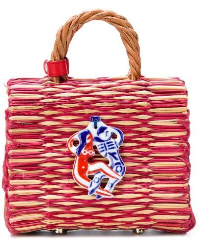 Маленькая сумка соломенная красная Heimat Atlantica