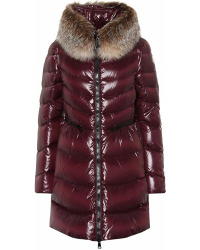 Зимнее пальто стеганое бордовый Moncler