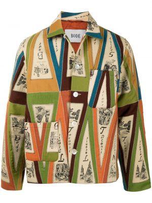Klasyczna długa kurtka wełniana z długimi rękawami Bode
